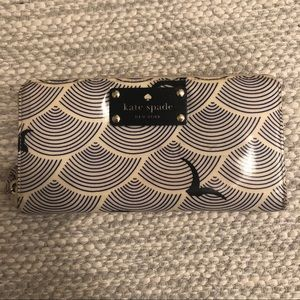 Kate Spade Blue & Cream Seagull Zipper Wallet